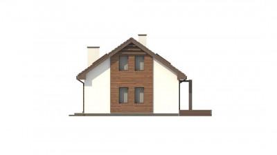 Z95 A - Мансардный дом, с деревом на фасадах и кабинетом на первом этаже.