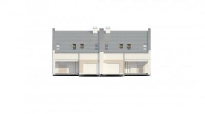 Zb13 - Проект домов для симметричной застройки стильного современного дизайна.