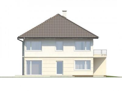Zx10 - Просторный двухэтажный дом простой формы с террасой над гаражом.