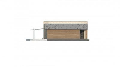 Zx115 - Функциональный одноэтажный дом в современном стиле с плоской кровлей.