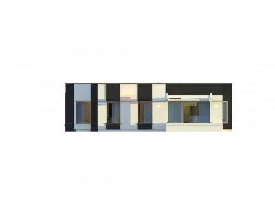 Zx116 - Одноэтажный комфортный дом в стиле хай-тек.