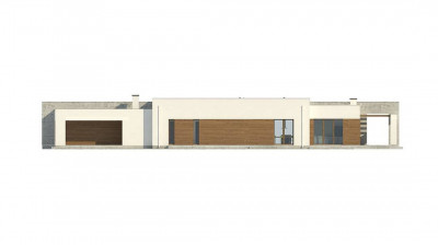 Zx129 - Комфортный одноэтажный дом для узкого участка.