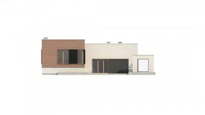 Zx132 - Современный дом минималистичного дизайна с подвалом