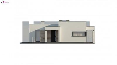 Zx138 - Одноэтажный дом с панорамными окнами и плоской кровлей