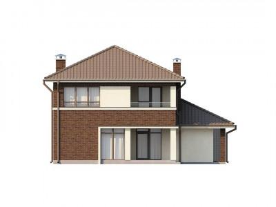 Zx24 - Элегантный двухэтажный дом с боковым гаражом и кабинетом на первом этаже.
