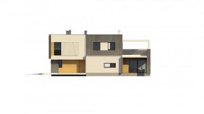 Zx45 - Дом характерного современного дизайна с гаражом и кабинетом на первом этаже.