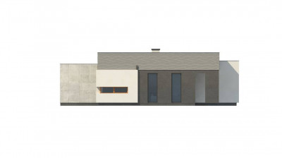 Zx56 - Проект одноэтажного дома в стиле модерн эффектной формы