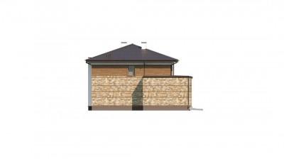 Zx62 - Проект двухэтажного дома с гаражом для двух авто, с баней