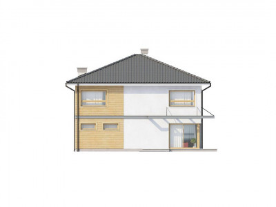 Zx7 - Просторный двухэтажный дом с удлиненным гаражом для двух автомобилей.
