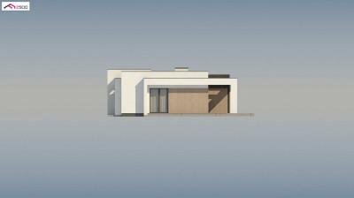 Zx77 A - nowoczesny dom parterowy z 2 sypialniami do 90m2