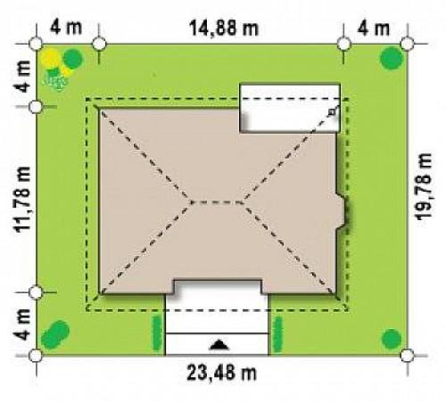 Z10 k - Версия проекта Z10 с кирпичной облицовкой фасадов.
