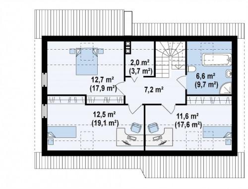 Z111 - Традиционный дом с кабинетом и большой ванной комнатой на первом этаже.