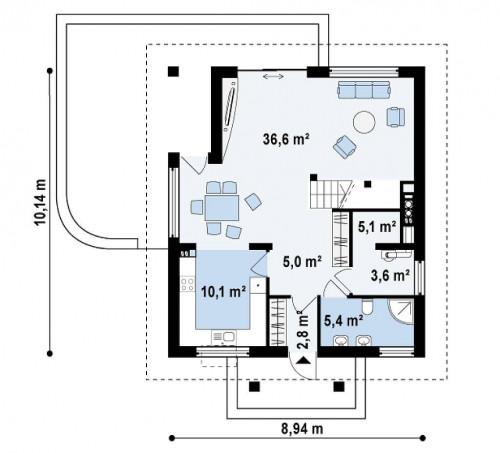 Z145 - Проект практичного и уютного традиционного дома.