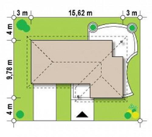 Z15 GL - Версия проекта Z15 со вcтроенным гаражом с левой стороны.