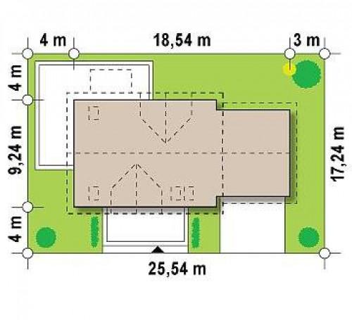 Z175 - Просторный функциональный дом с гаражом, красивыми мансардными окнами и дополнительной спальней на первом этаже.