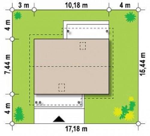 Z210 v1 - Вариант проекта Z210 с увеличенной площадью котельной.
