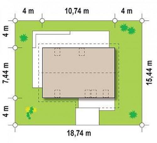 Z225 - Практичный аккуратный дом с мансардой, с удобной функциональной планировкой.