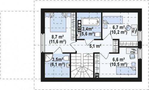 Z227 - Проект компактного аккуратного дома с гаражом.