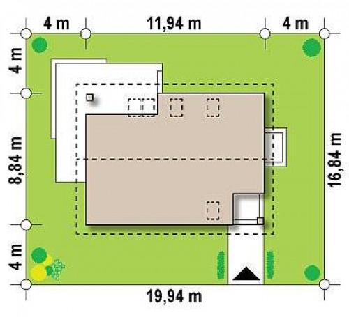 Z228 - Аккуратный и функциональной дом простой формы, экономичный в строительстве и эксплуатации.