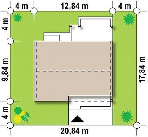 Z251 - Простой и недорогой в строительстве энергосберегающий дом современного дизайна.