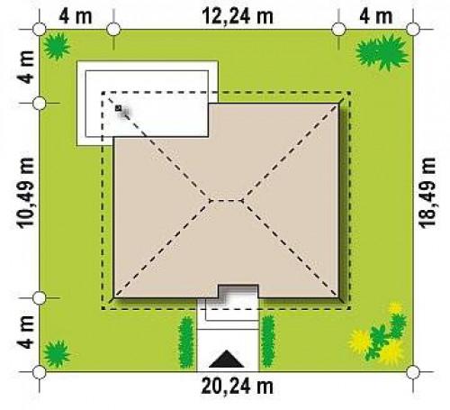 Z273 Ph+ st - Версия проекта Z273 с жилой мансардой, с увеличенной высотой аттиковой стены.