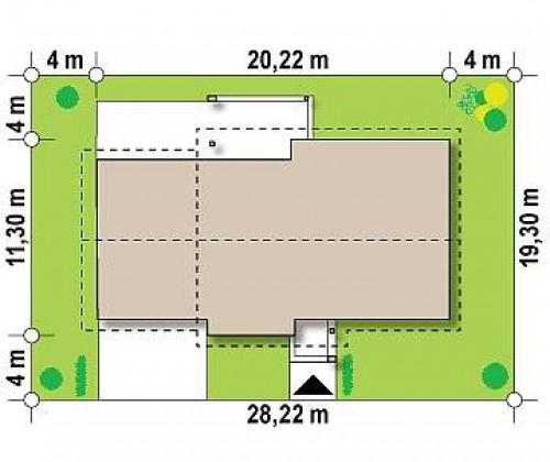 Z287 GL2 - Версия проекта Z287 c большим гаражным помещением.