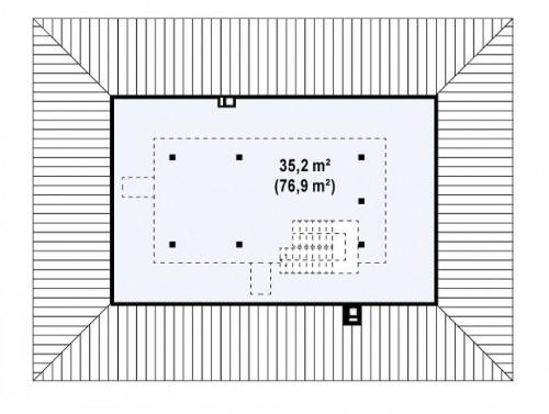 Z35 bG - Комфортный одноэтажный дом традиционного дизайна.