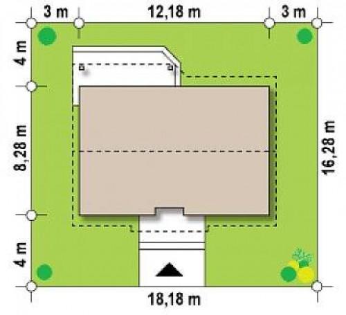 Z7 P 35 - Версия проекта Z7 с мансардным этажом, угол наклона кровли 35 градусов.