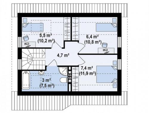 Z71 - Практичный функциональный дом, недорогой в строительстве и эксплуатации.