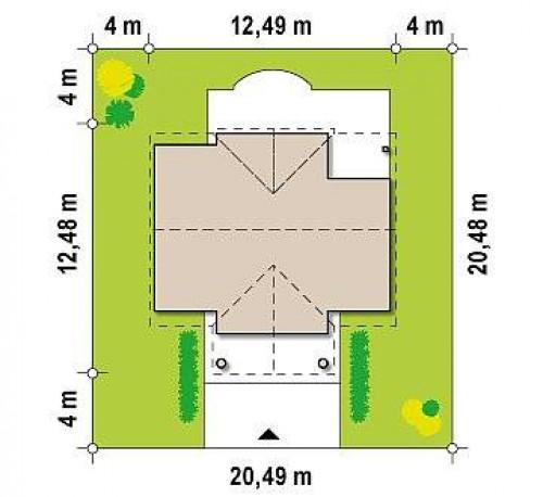 Z9 - Аккуратный дом с мансардой и дополнительной спальней на первом этаже.