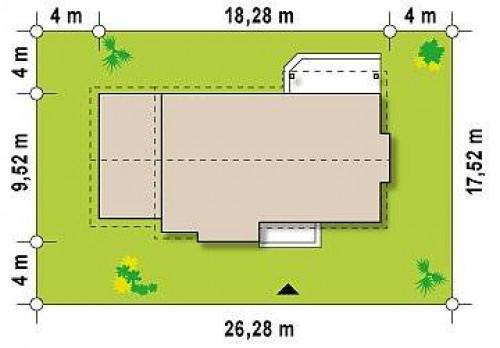 Z93 GL - Вариант проекта Z93 с гаражом на одну машину