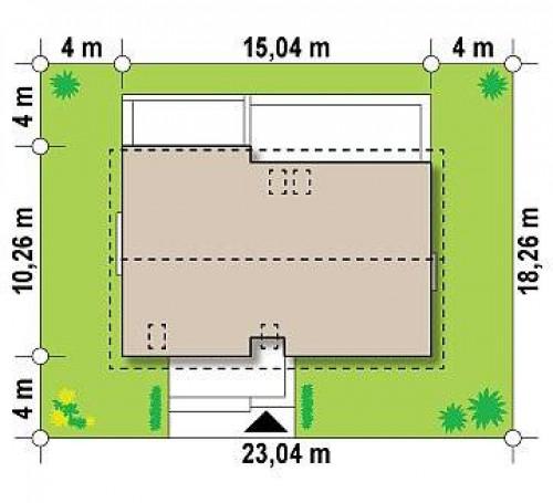 Z97 - Проект двухсемейного дома с отдельной удобной «квартирой» площадью 58 м2.