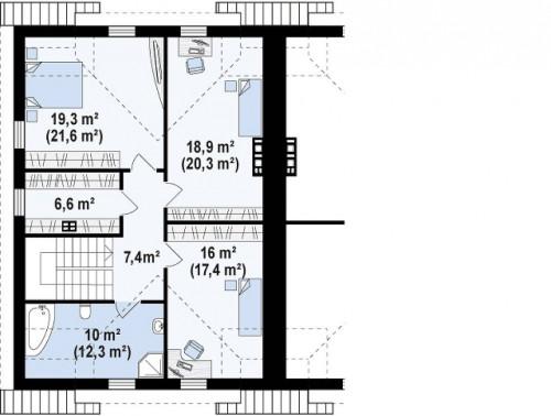 Zb12 - Дома близнецы элегантного дизайна со встроенным гаражом.