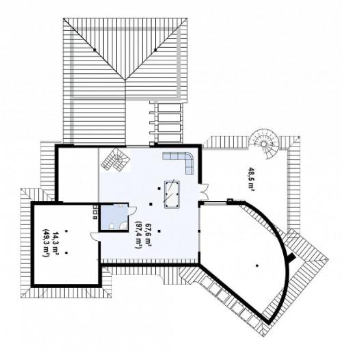 Zr1 - Представительный добротный особняк с богатым интерьером.