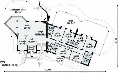 Zr2 - Загородный отель с рестораном и бальным залом.