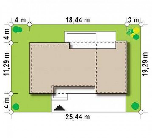 Zx102 GP - Вариант проекта Zx102 с гаражом на одну машину.