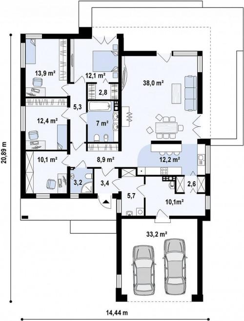 Zx103 - Комфортный, стильный, современный дом для большой семьи.