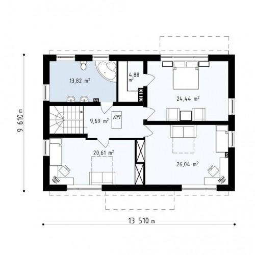 Zx11 v2 - Новая версия адаптированного проекта дома zx11