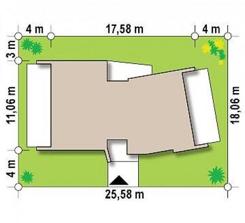 Zx180 - Современный одноэтажный дом в стиле минимализм