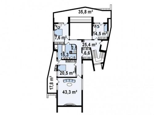 Zx27 - Роскошный современный особняк эксклюзивного дизайна.