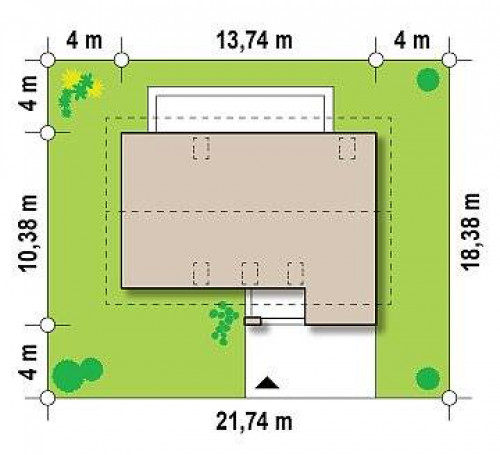 Zx38 v1 - Вариант проекта Zx38 с изменениями в планировке.
