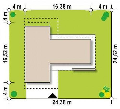 Zx70 - Стильный современный коттедж с плоской кровлей