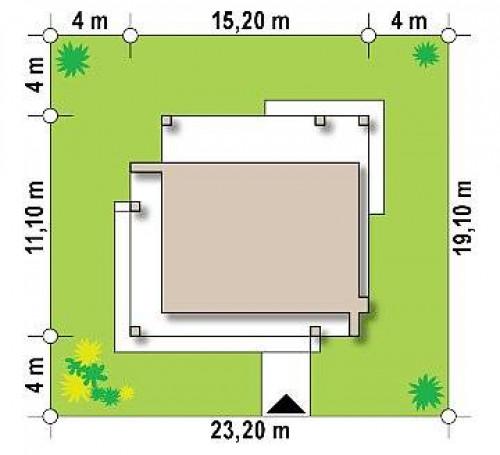 Zx76 D - Компактный коттедж современного дизайна с плоской кровлей