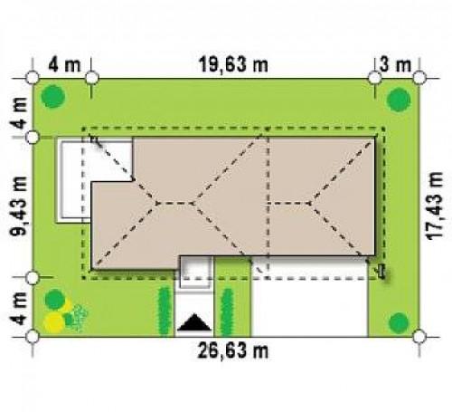 Zx8 GP2 - Двухэтажный дом с низкой кровлей с двухместным гаражом