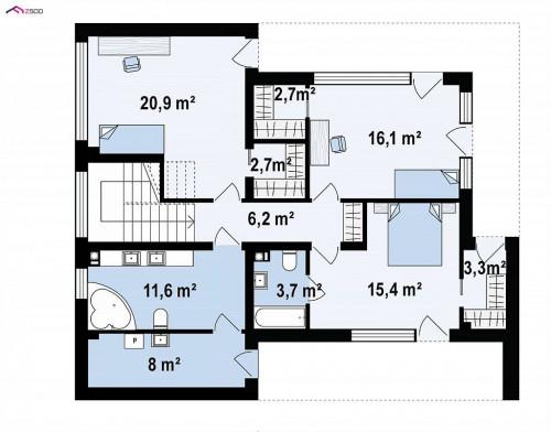 Zx82 - Современный дом для одной семьи простой формы