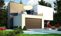 Zr17 A - Двухэтажный дом в стиле минимализм - вариант проекта ZR 17
