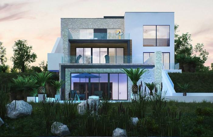 Zr17 - Трехэтажная современная резиденция  с террасами и бассейном .