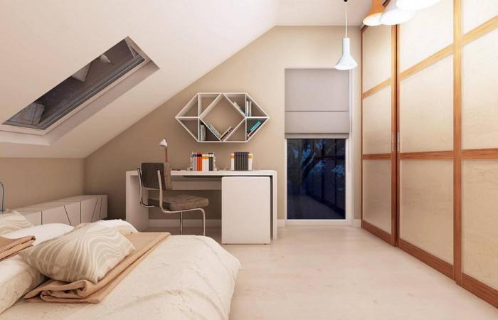 Z102 - Компактный дом с мансардой, эркером в дневной зоне и c кабинетом на первом этаже.