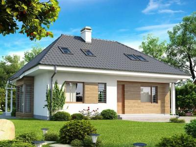 Z104 - Проект функционального дома с дополнительной небольшой ночной зоной на первом этаже.