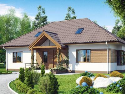 Z106 - Проект традиционного дома с возможностью адаптации чердачного помещения.